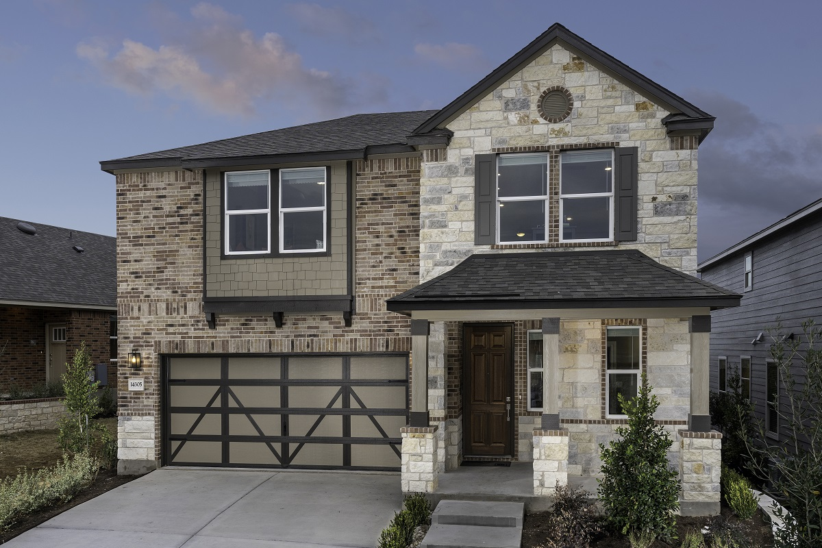 New Homes in Austin, TX - Village at Northtown Plan 2412 Modeled