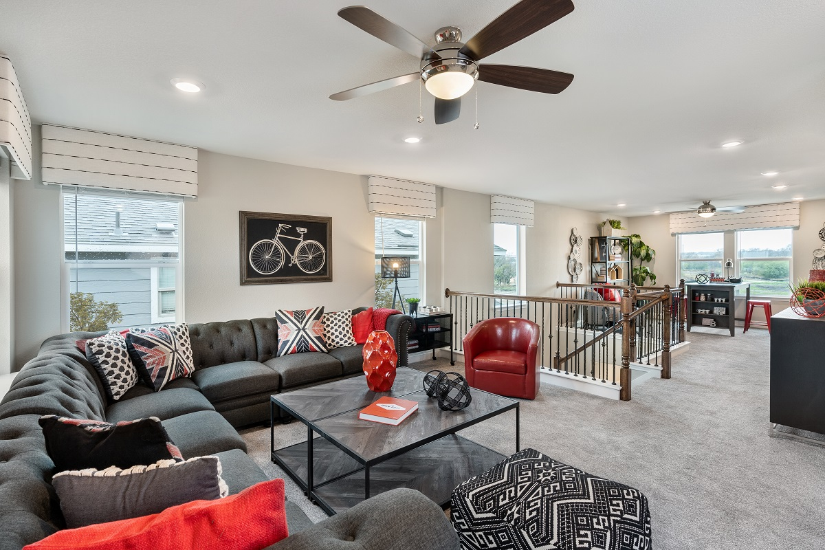 New Homes in Austin, TX - Village at Northtown Plan 2412 Game Room