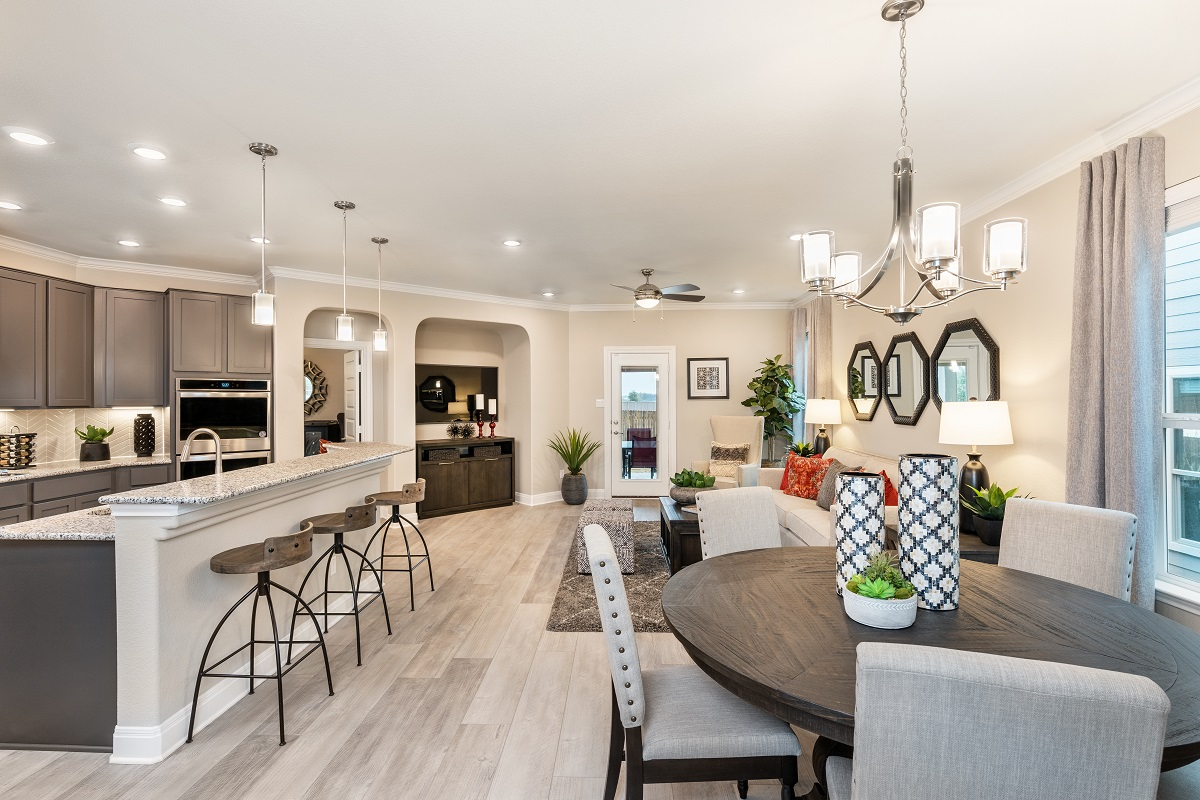 New Homes in Austin, TX - Village at Northtown Plan 2412 Great Room