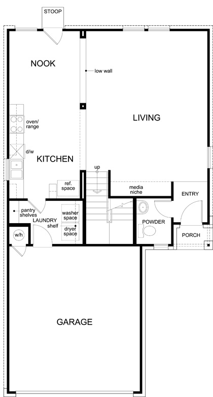New Homes in Austin, TX - Plan 1601, First Floor