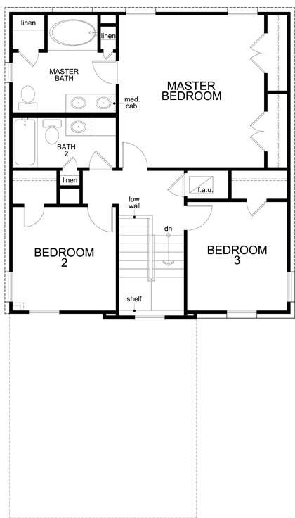New Homes in Austin, TX - Plan 1601, Second Floor