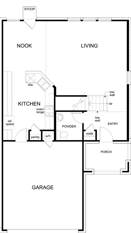 New Homes in Austin, TX - Plan 1771, First Floor