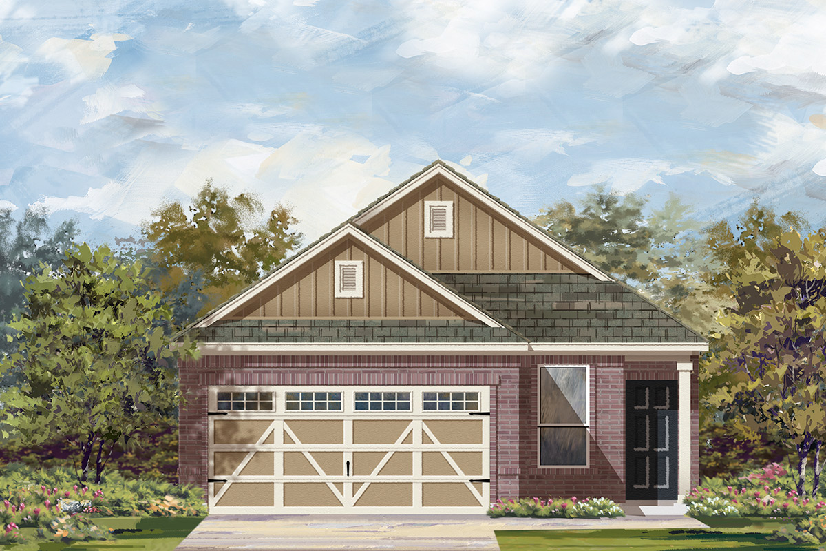 New Homes in Hutto, TX - Plan F-1353 L