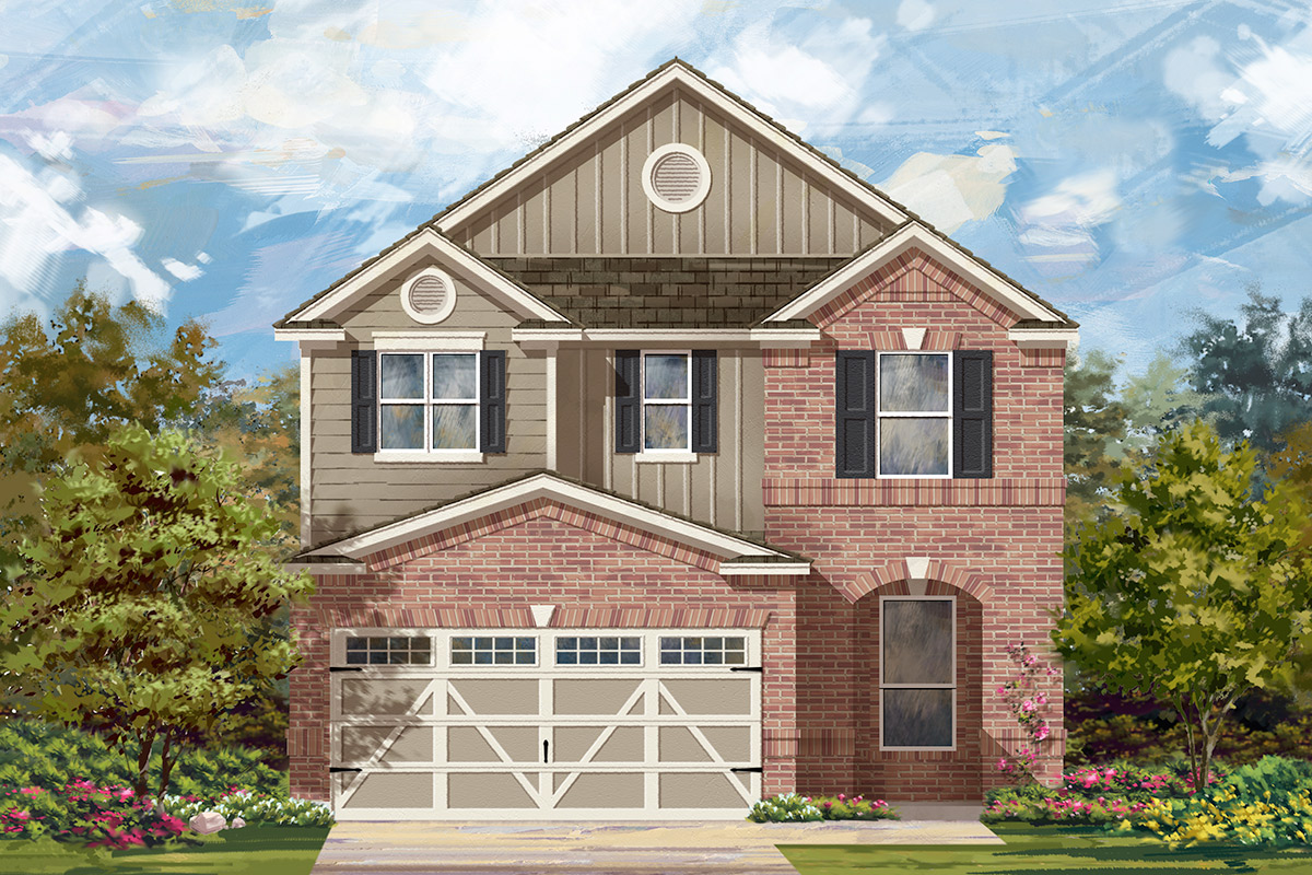 New Homes in Hutto, TX - Plan F-2411 L
