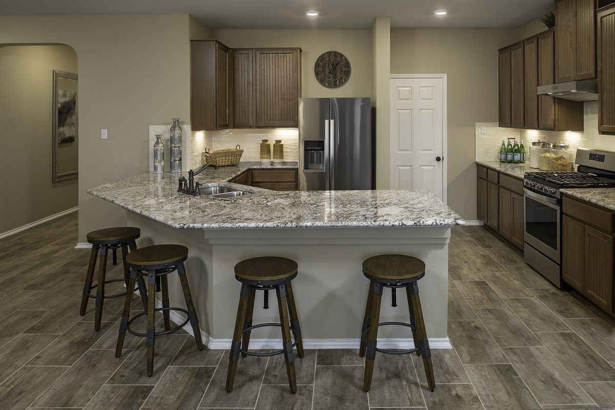 New Homes in Hutto, TX - Villas at Star Ranch Plan E-1647 Kitchen