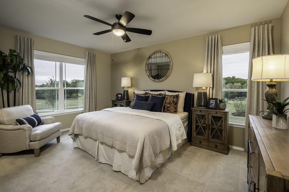 New Homes in Hutto, TX - Villas at Star Ranch Plan E- 1647 Master Bedroom