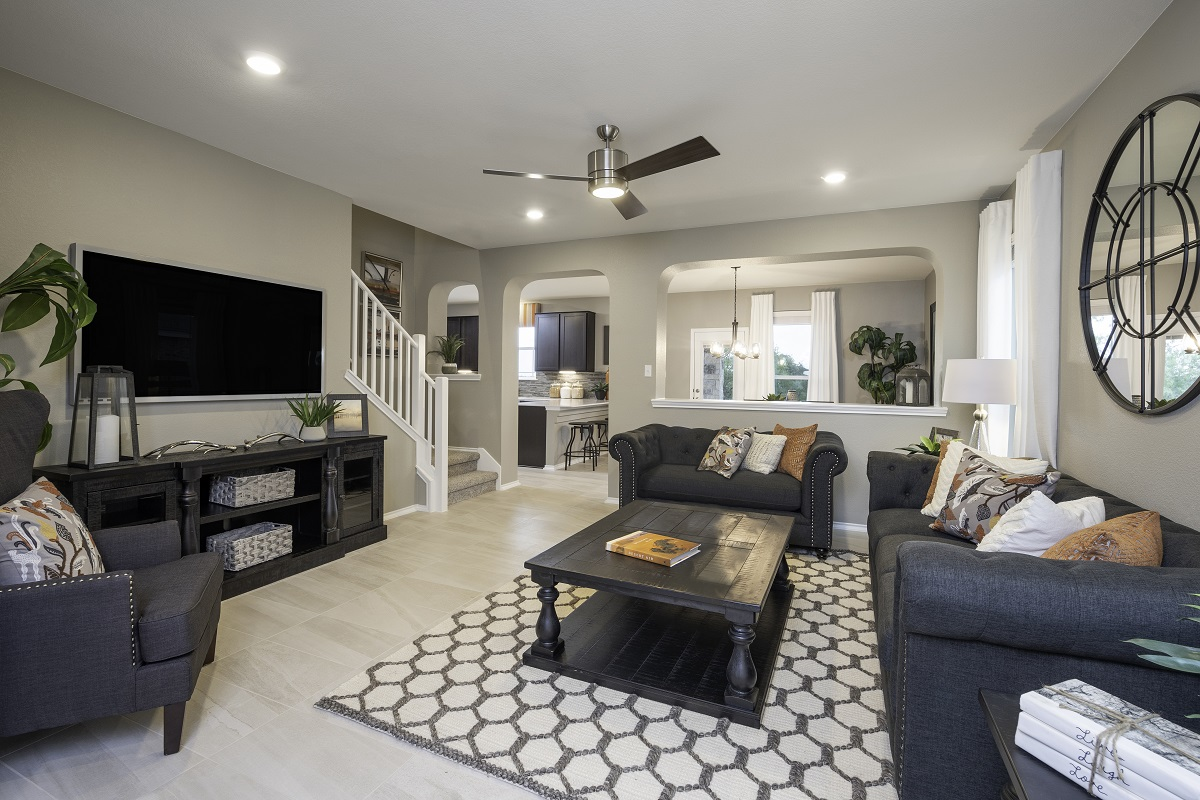 New Homes in Hutto, TX - Villas at Star Ranch Plan F-2038 Great Room