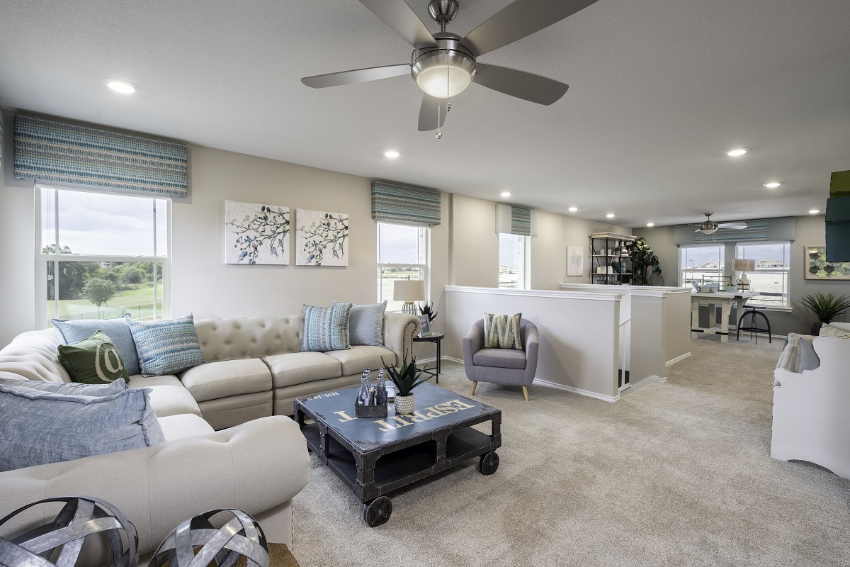 New Homes in Hutto, TX - Villas at Star Ranch Plan E-2412 Game Room