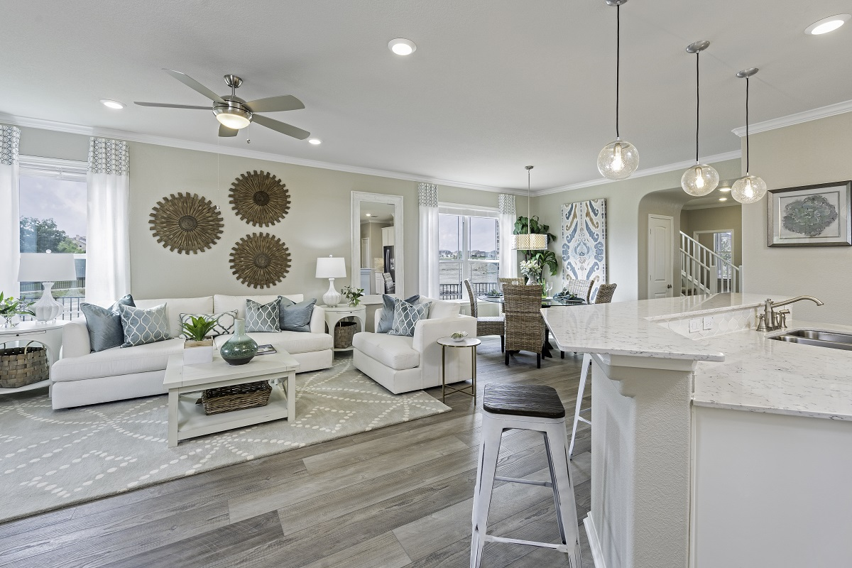 New Homes in Hutto, TX - Villas at Star Ranch Plan E-2412 Great Room