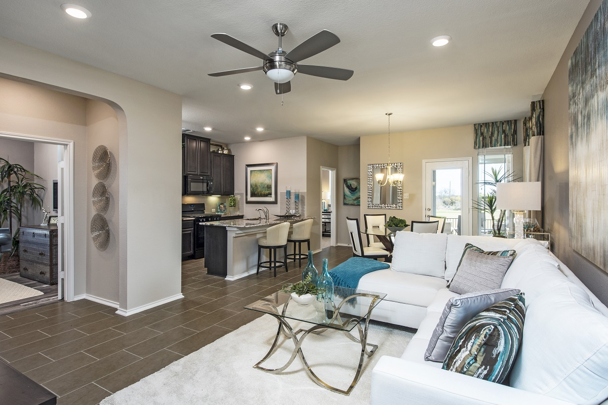 New Homes in Hutto, TX - Villas at Star Ranch Plan F-1353 Great Room