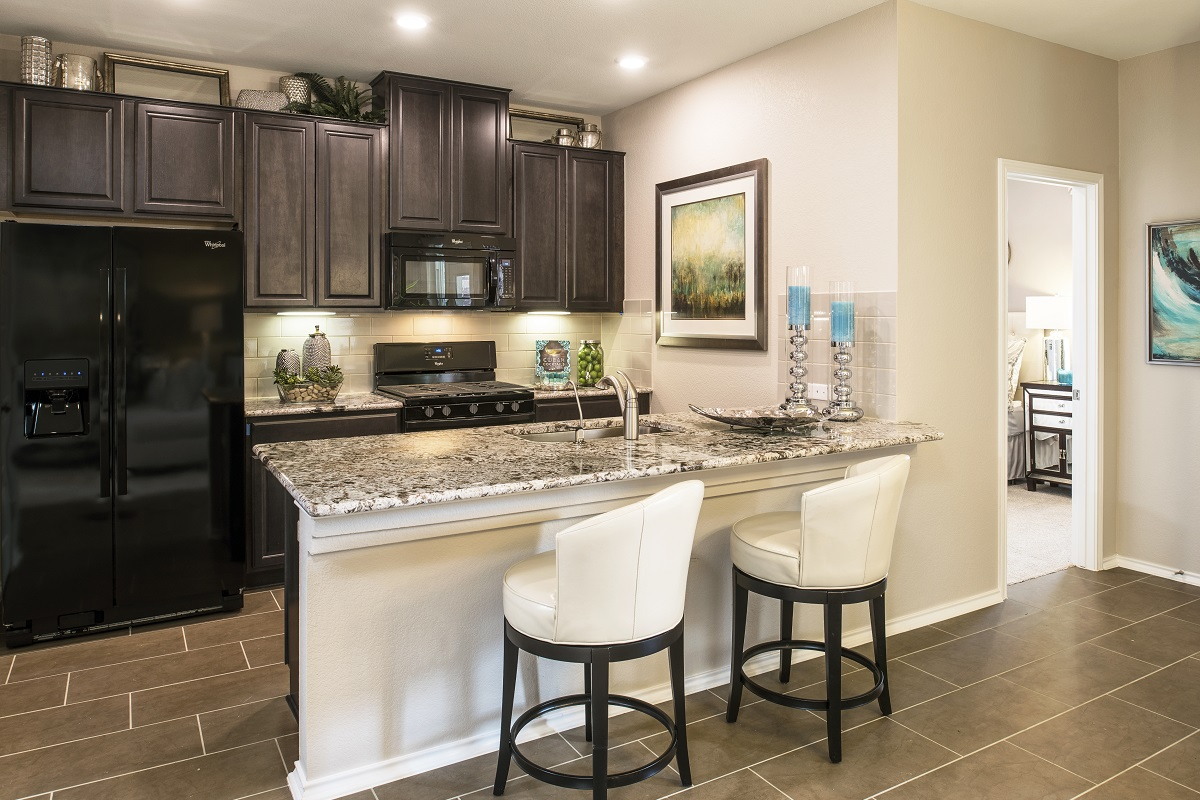 New Homes in Hutto, TX - Villas at Star Ranch Plan F-1353 Kitchen