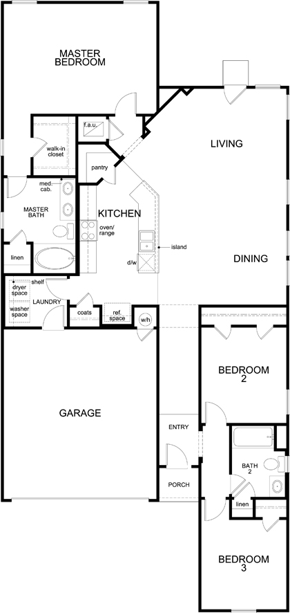 New Homes in Austin, TX - Plan 1591, First Floor