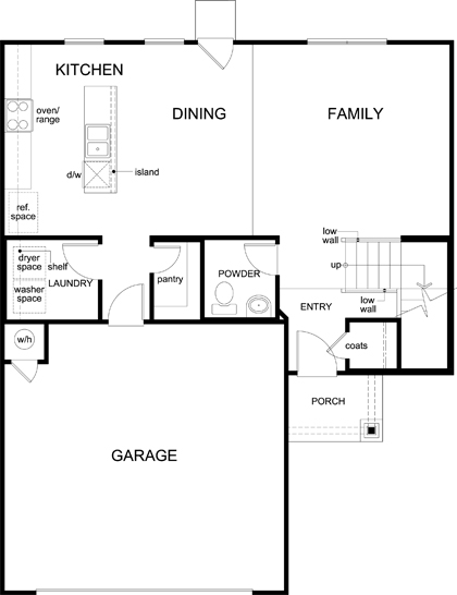 New Homes in Austin, TX - Plan 1895, First Floor