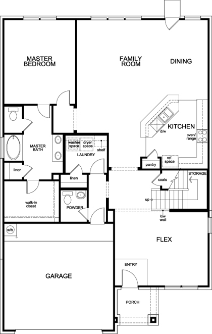 New Homes in Fort Worth, TX - Plan 2981, First Floor