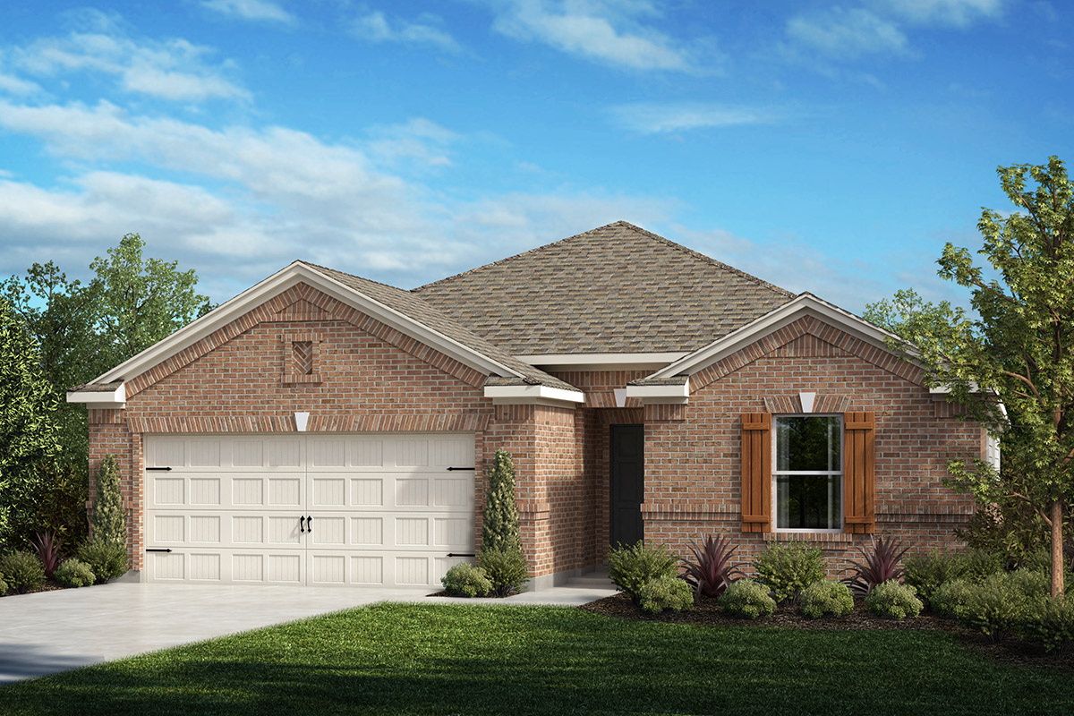 New Homes in Fort Worth, TX - Copper Creek Plan 2141 Elevation A