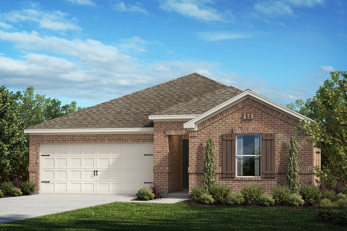 New Homes in Fort Worth, TX - Copper Creek Plan 1484 Elevation A