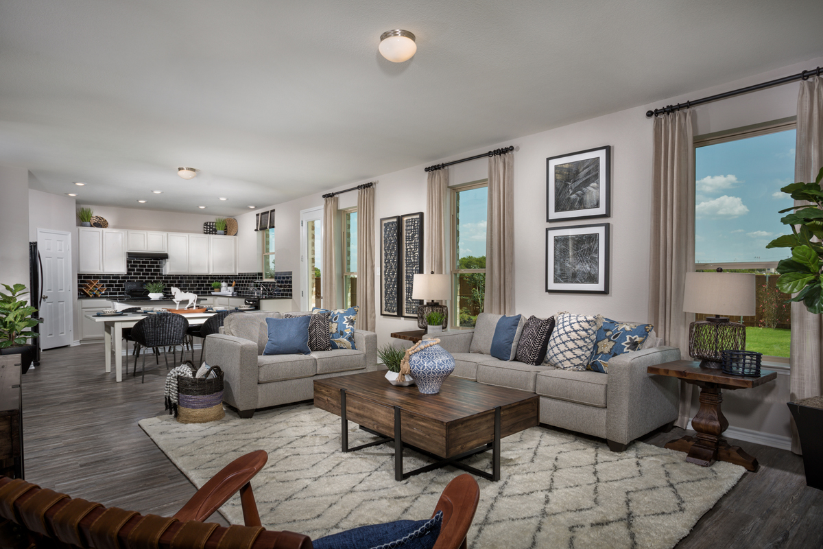 New Homes in Fort Worth, TX - Copper Creek Plan 1813 Great Room