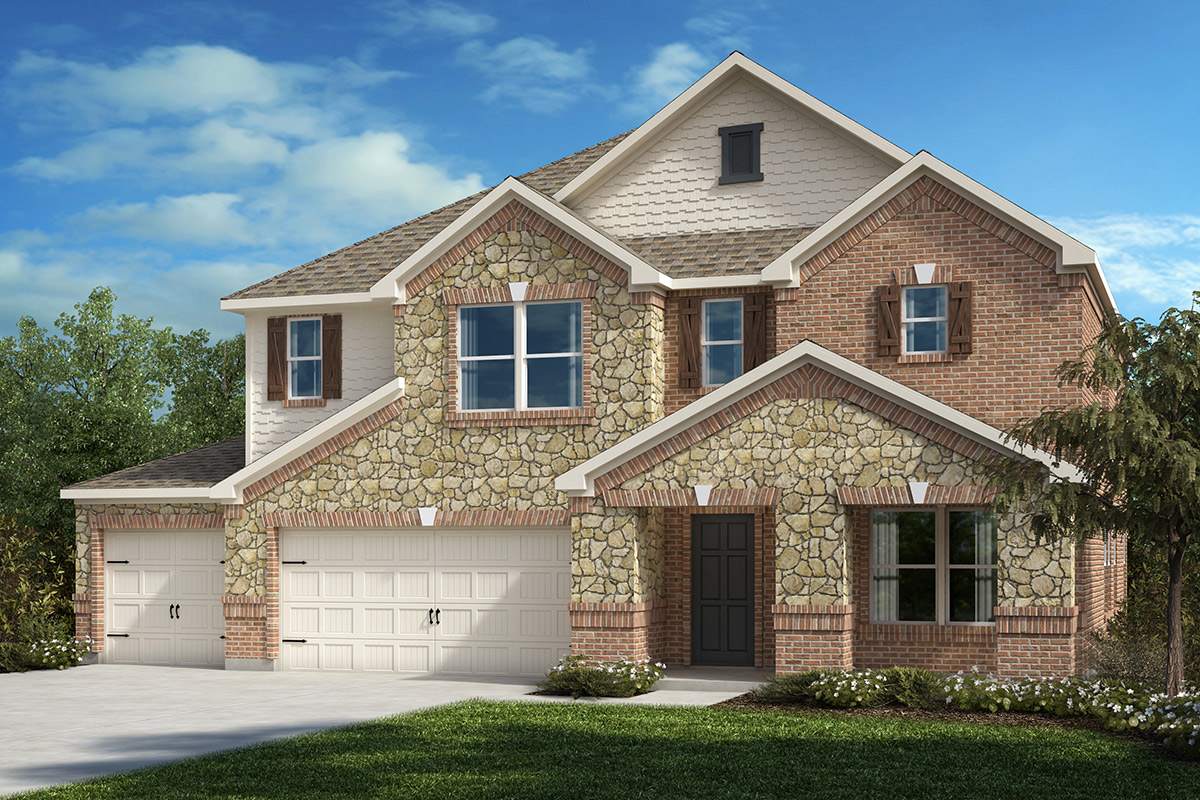 New Homes in Fort Worth, TX - Elevation C - 3-Car Garage Option