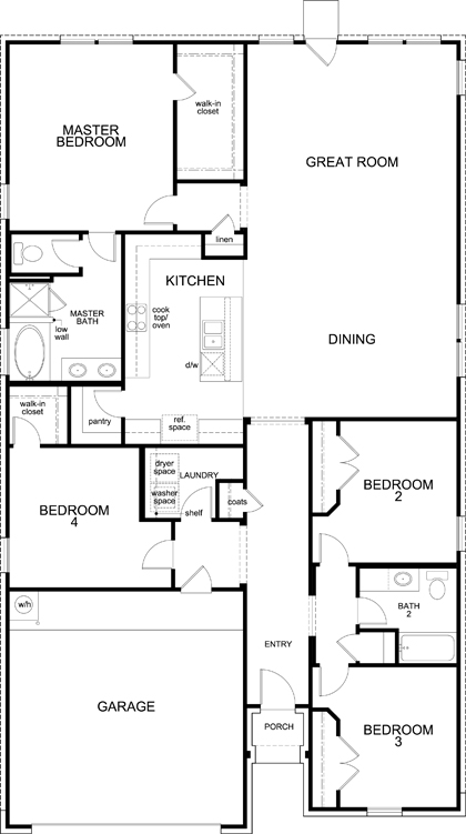 New Homes in Celina, TX - Plan 2141, First Floor