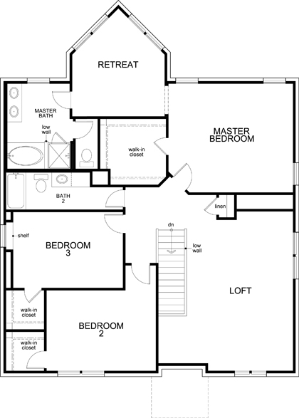 New Homes in Fort Worth, TX - Plan 2803, Second Floor