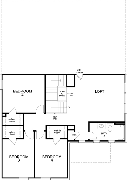 New Homes in Allen, TX - Plan 2547, Second Floor