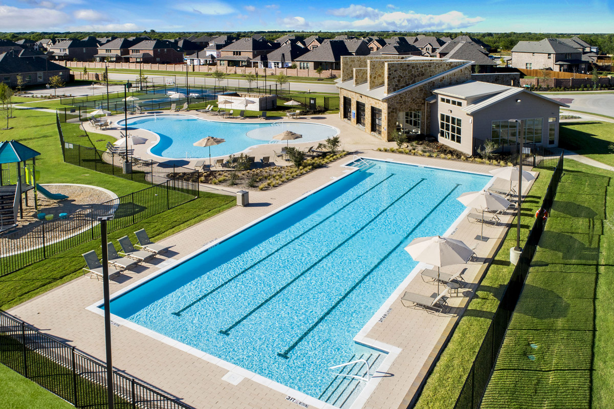New Homes in Celina, TX - Creeks of Legacy Community Pool