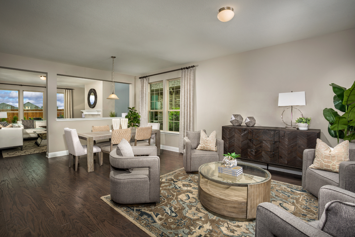 New Homes in Celina, TX - Creeks of Legacy Plan 2803 Living Room