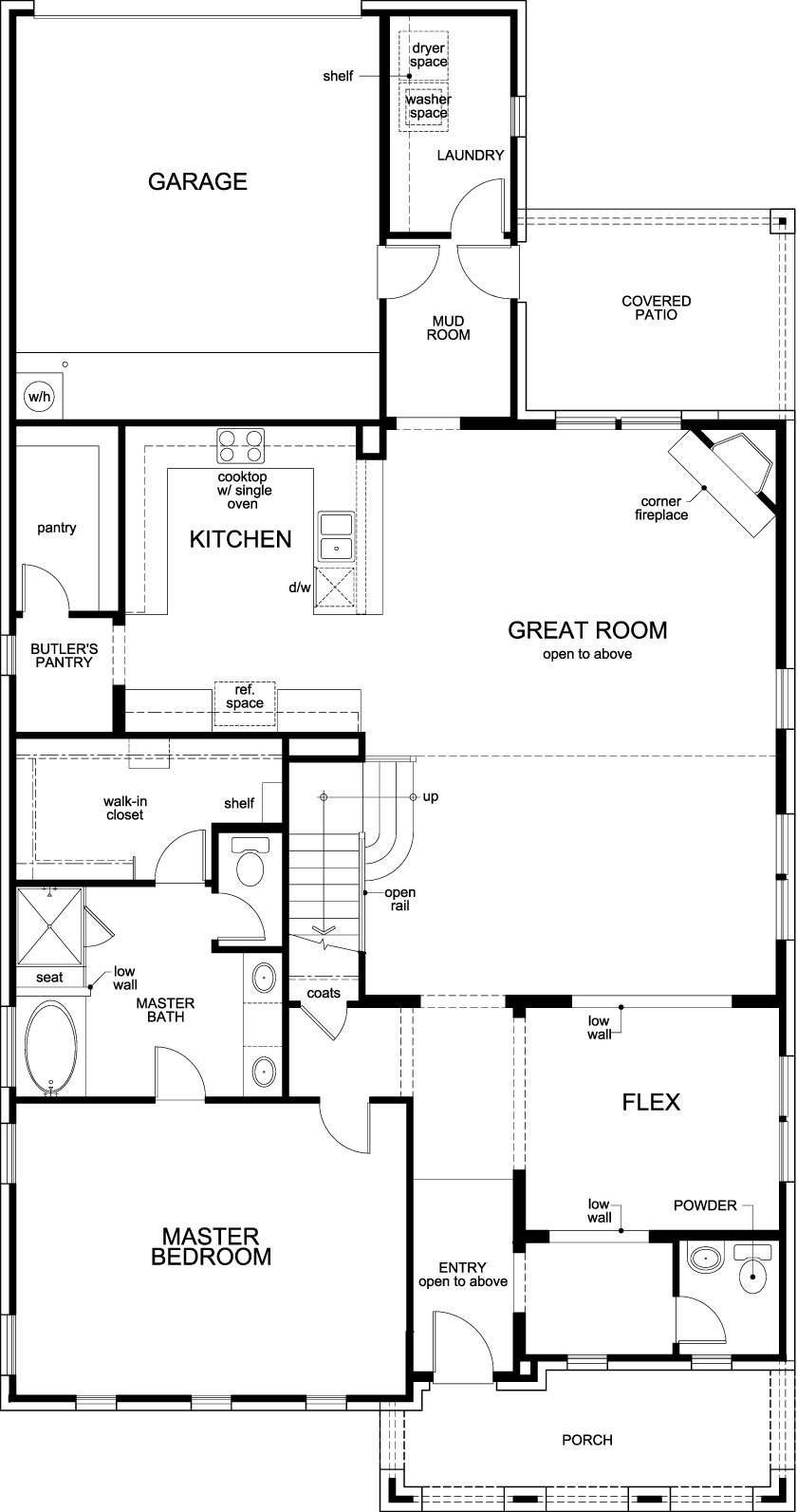 New Homes in Frisco, TX - Plan 3381, First Floor