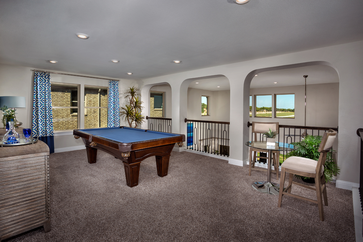 New Homes in Frisco, TX - Retreat at Stonebriar Plan 3149 Game Room
