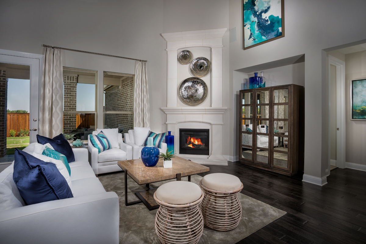 New Homes in Frisco, TX - Retreat at Stonebriar Plan 3149 Living Room