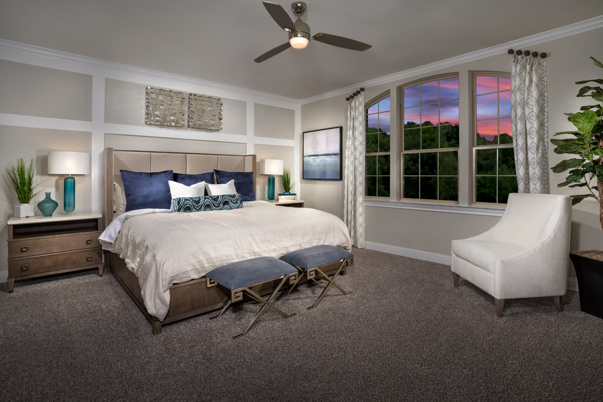 New Homes in Frisco, TX - Retreat at Stonebriar Plan 3149 Master Suite