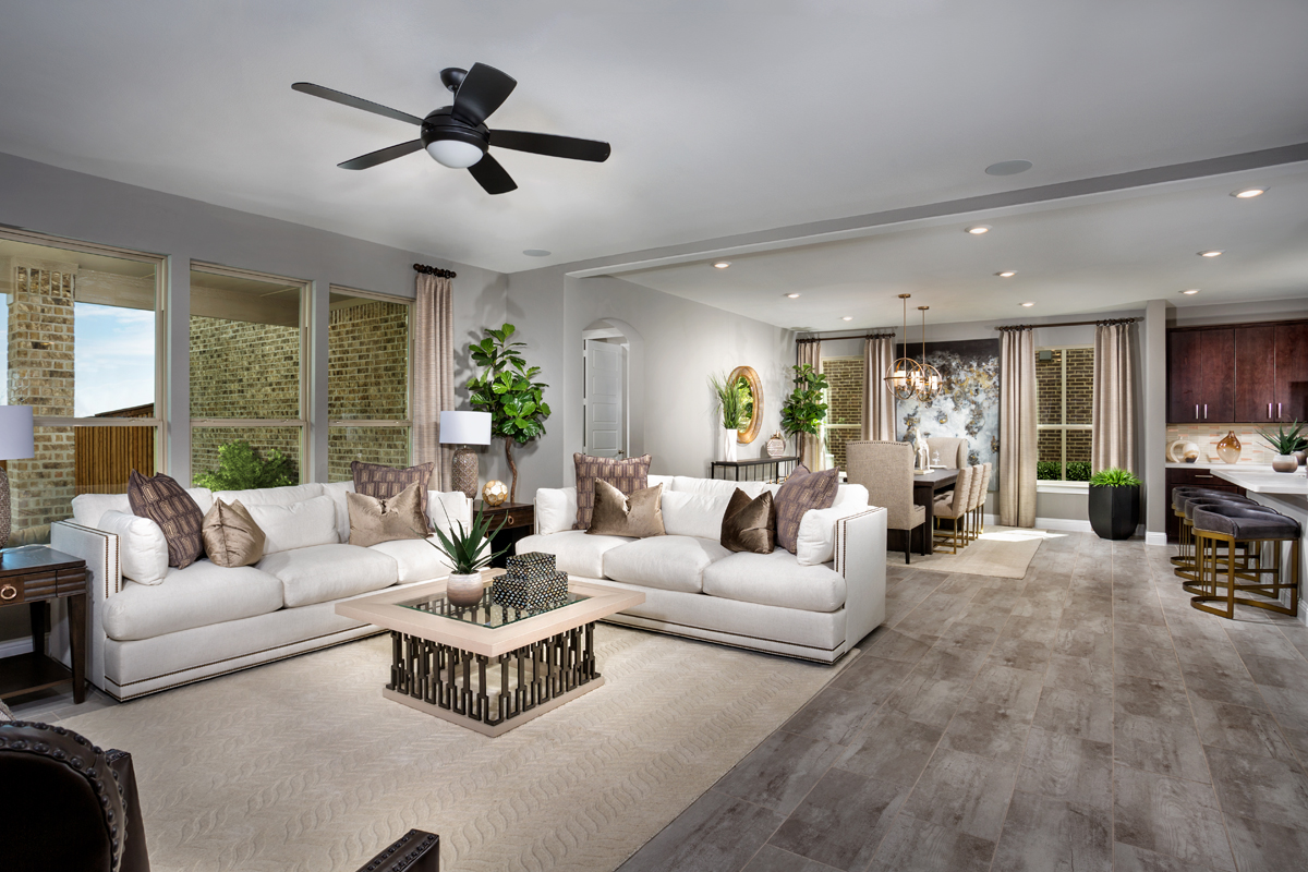 New Homes in Frisco, TX - Retreat at Stonebriar Plan 3301 Great Room