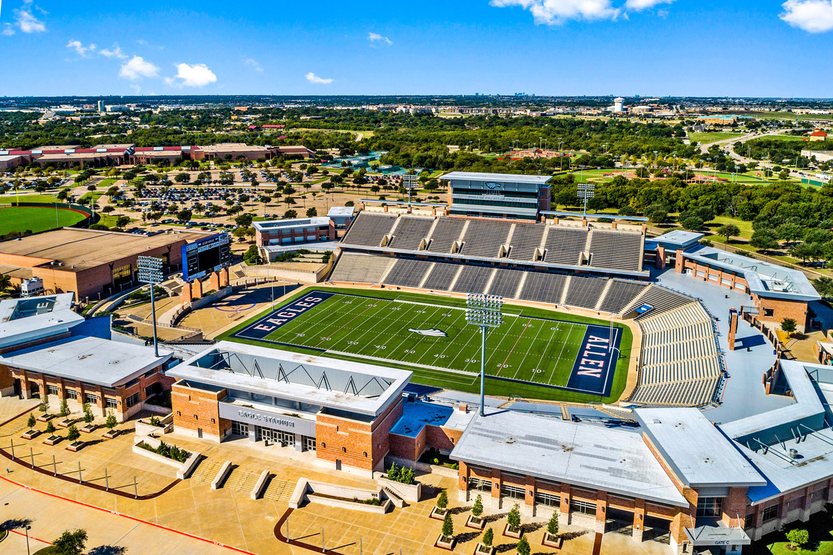 New Homes in Allen, TX - St. Andrews Park Allen High School Stadium