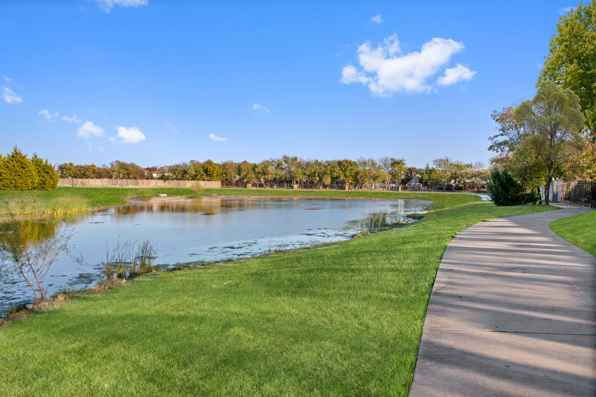 New Homes in Allen, TX - St. Andrews Park Pond/Walking Trail