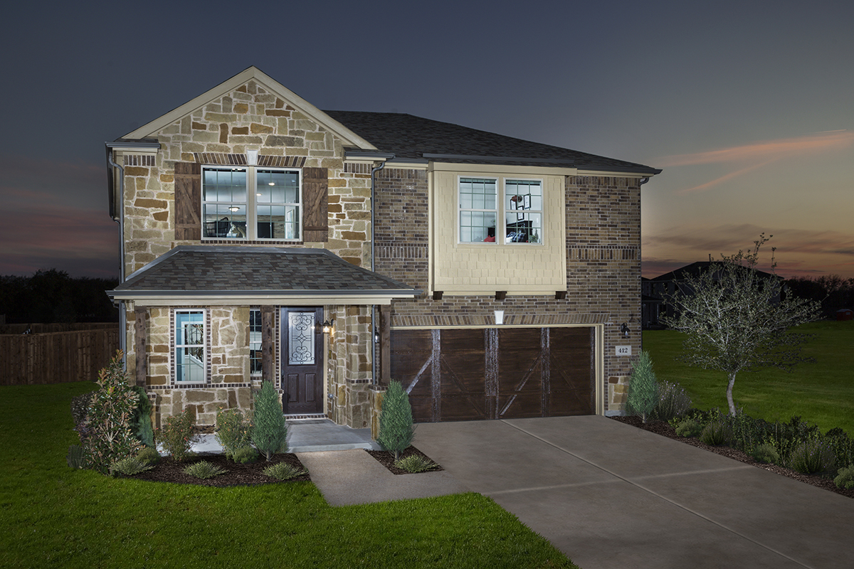 New Homes in Allen, TX - Plan 2414 Modeled