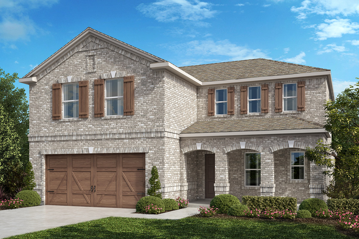 New Homes in Allen, TX - Plan 2547 Elevation B