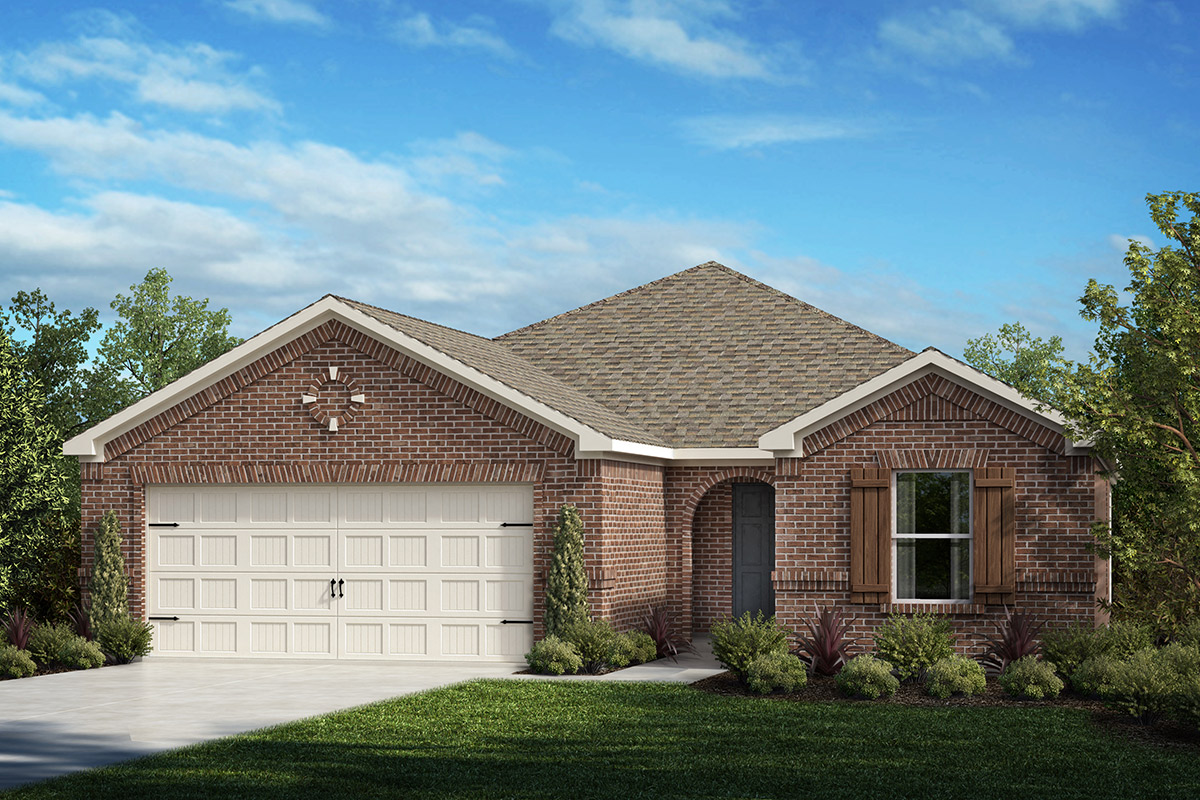 New Homes in Fort Worth, TX - Copper Creek Estates Plan 1813 Elevation A