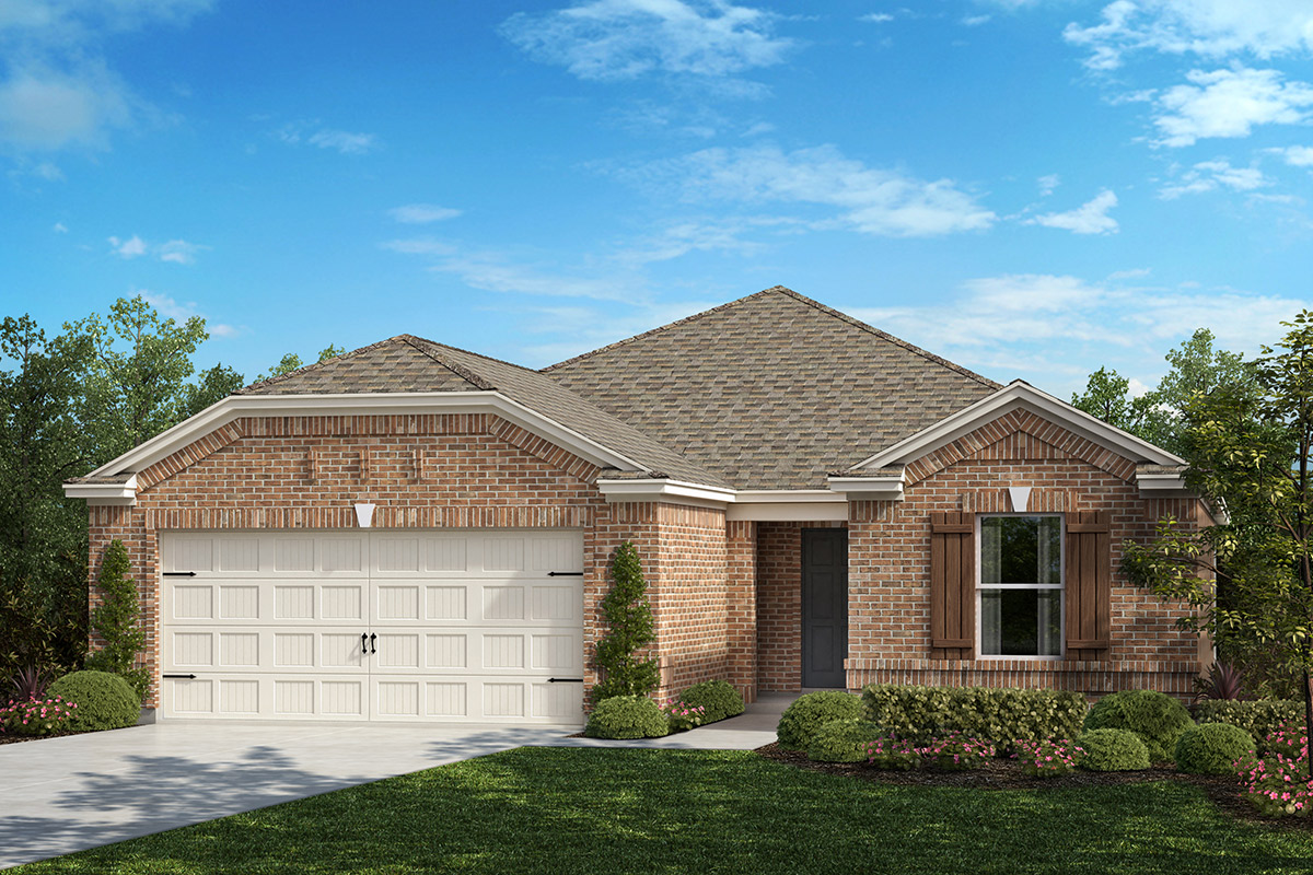 New Homes in Fort Worth, TX - Copper Creek Estates Plan 1813 Elevation B