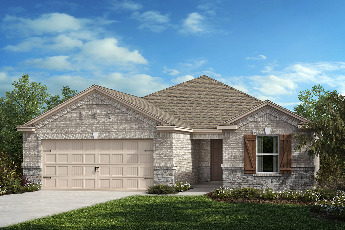 New Homes in Fort Worth, TX - Copper Creek Estates Plan 1813 Elevation C