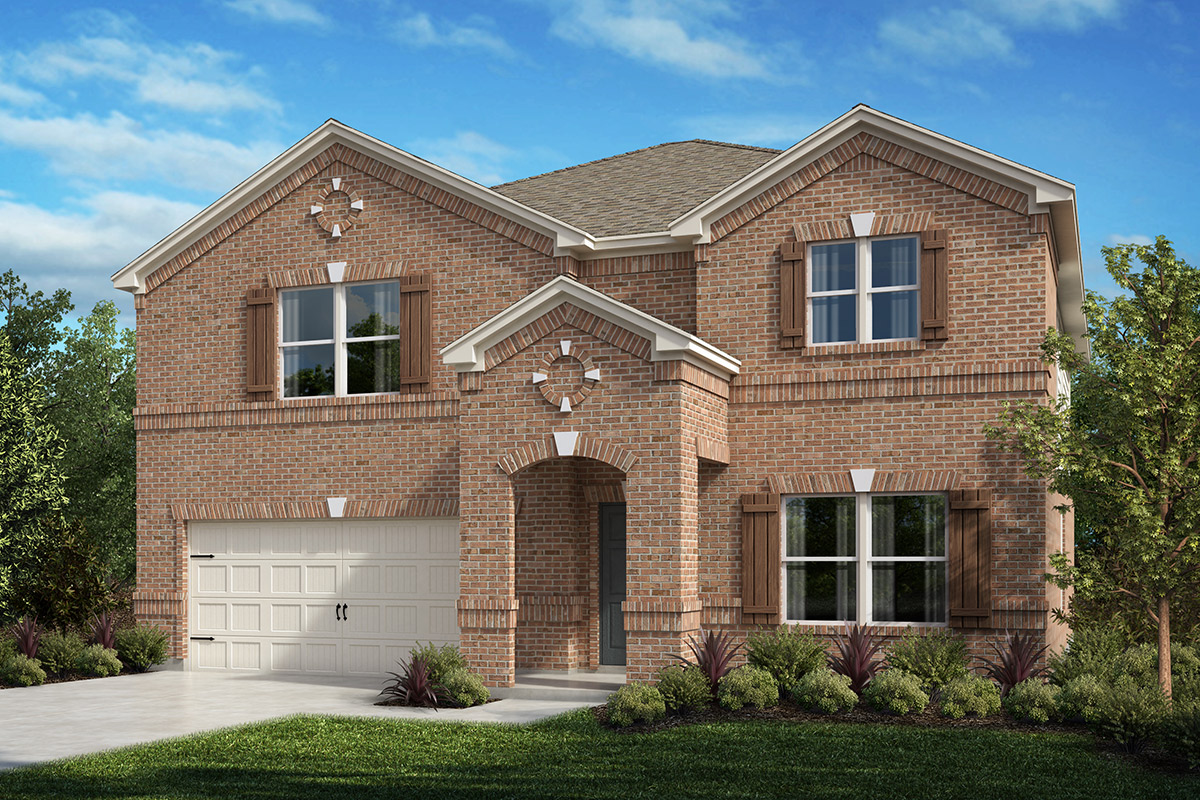New Homes in Fort Worth, TX - Copper Creek Estates Plan 2803 Elevation A