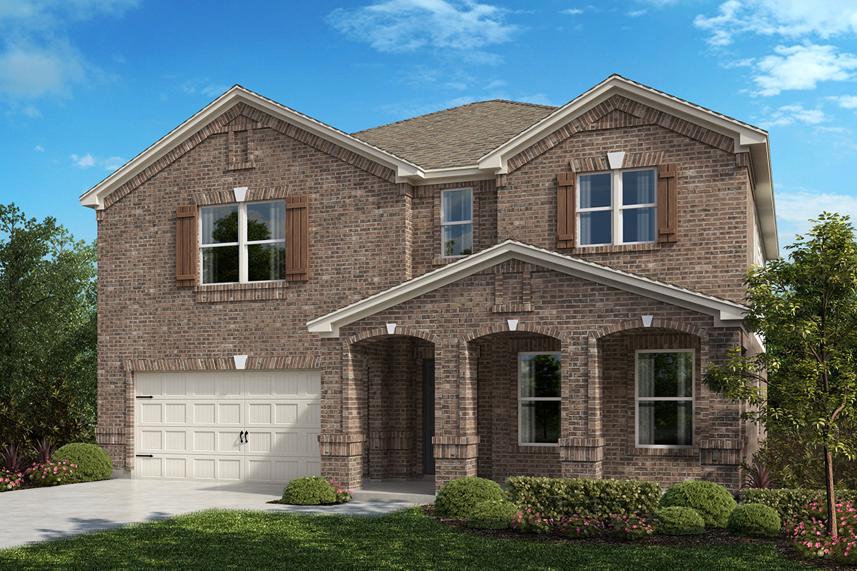 New Homes in Fort Worth, TX - Copper Creek Plan 2803 Elevation B