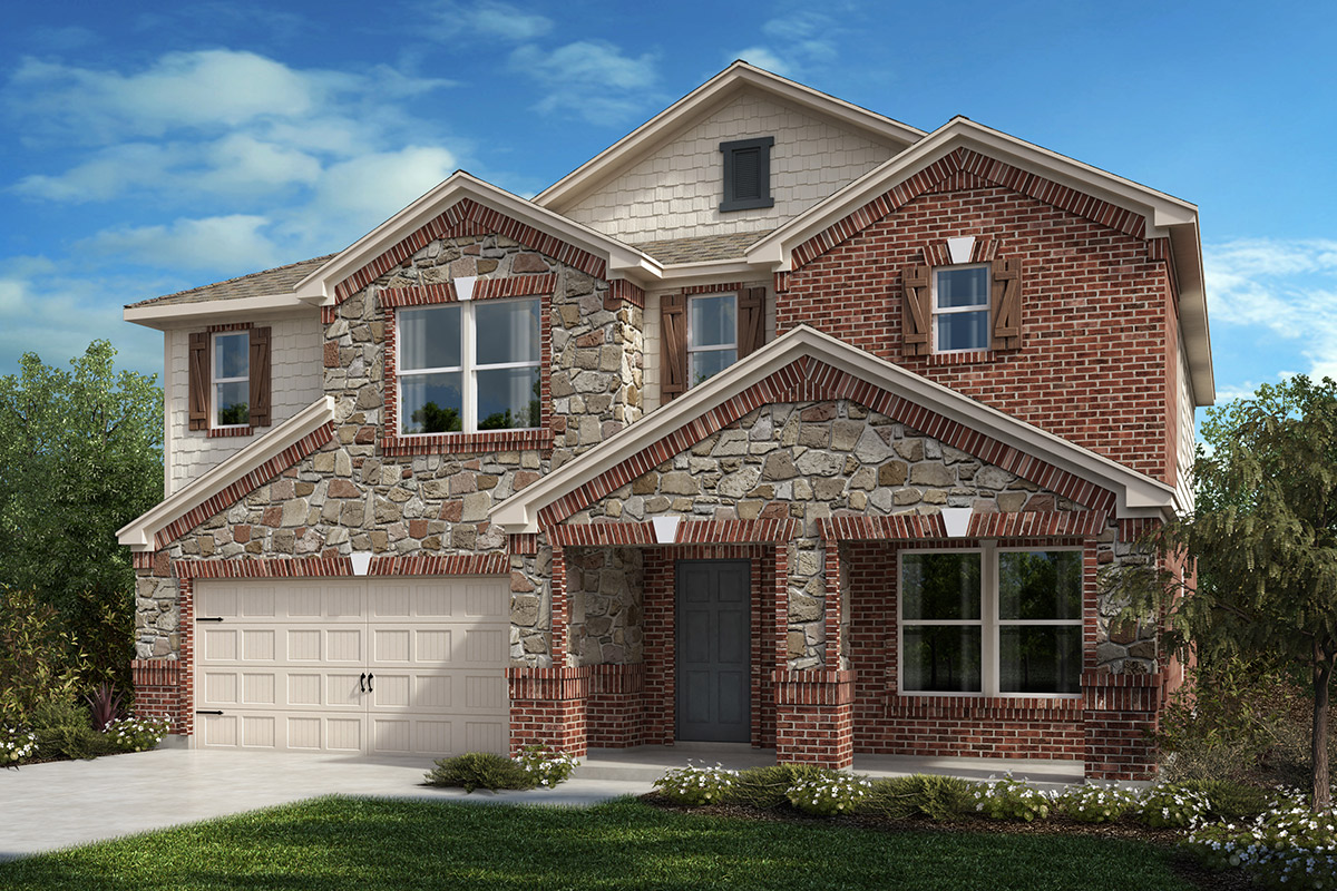 New Homes in Fort Worth, TX - Copper Creek Plan 2803 Elevation C