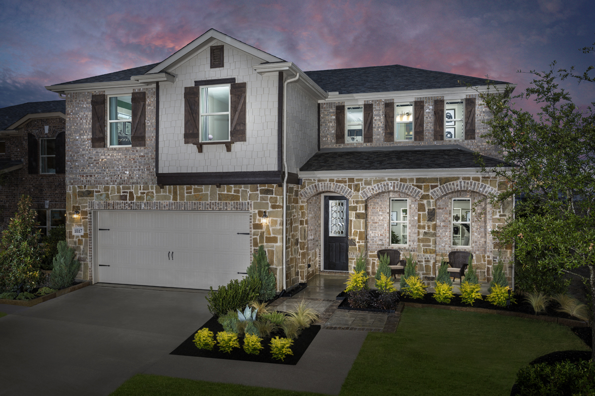 New Homes in Allen, TX - St. Andrews Park Plan 2547 as modeled at Winn Ridge