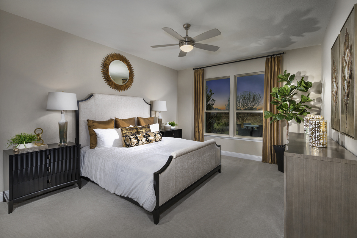 New Homes in Allen, TX - St. Andrews Park Plan 2547 Master Bedroom as modeled at Winn Ridge