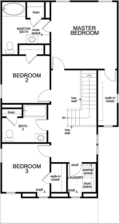 New Homes in Houston, TX - Plan 1520, Second Floor