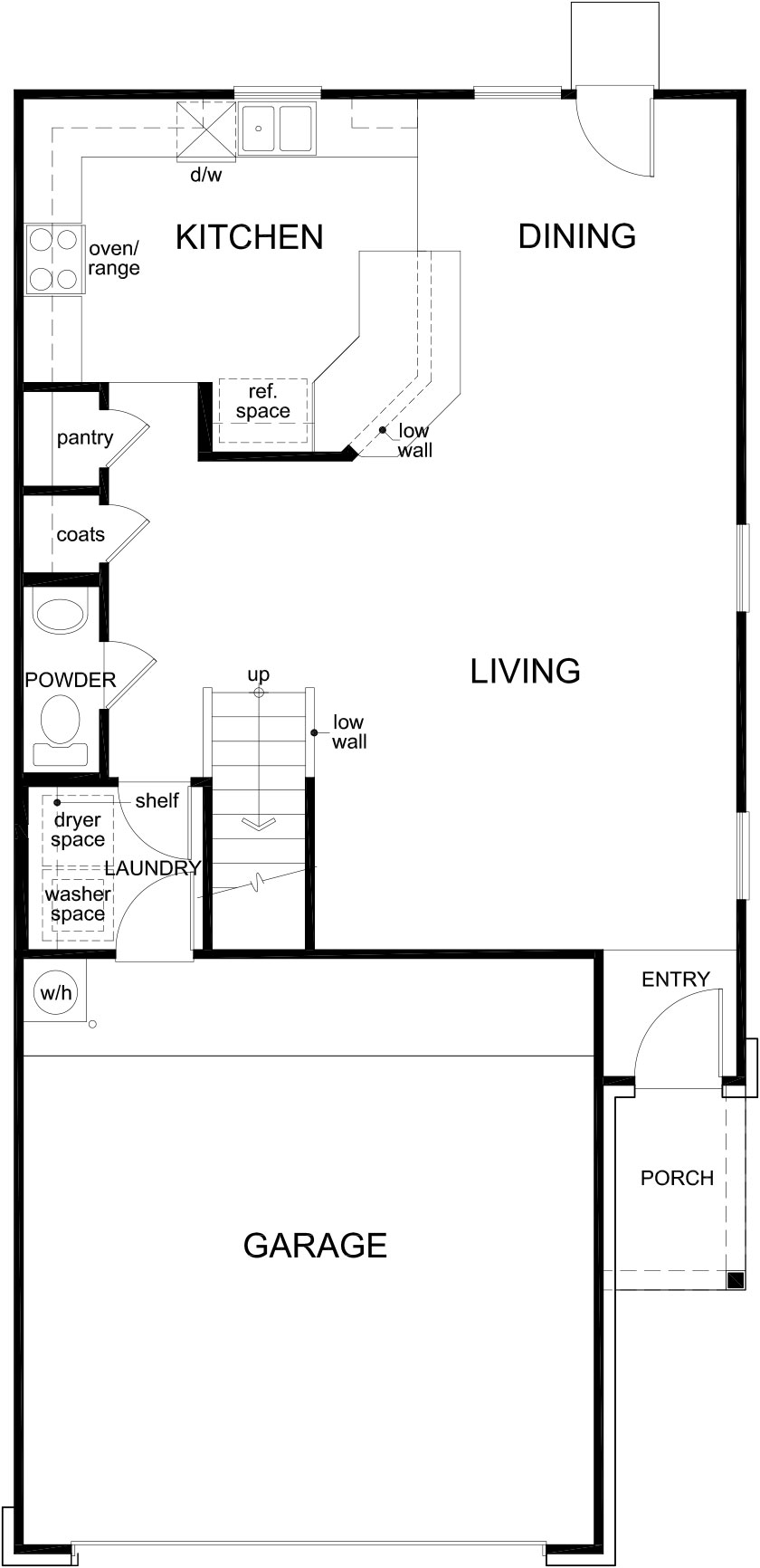 New Homes in Houston, TX - Plan 1693, First Floor