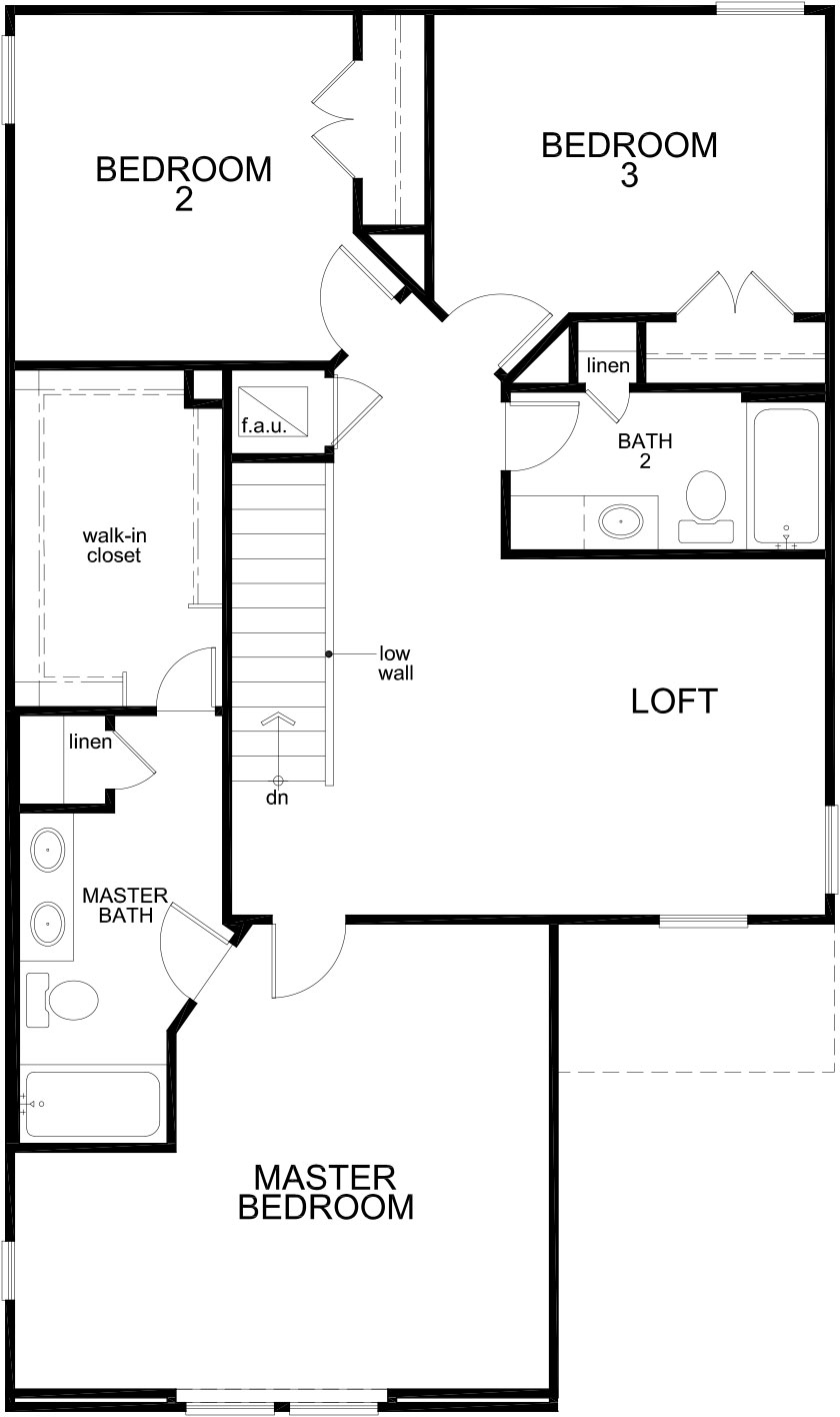 New Homes in Houston, TX - Plan 1909, Second Floor