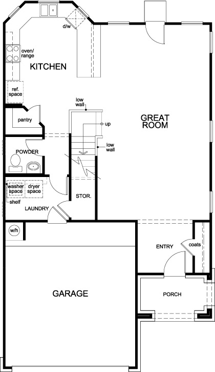 New Homes in Houston, TX - Plan 2124, First Floor