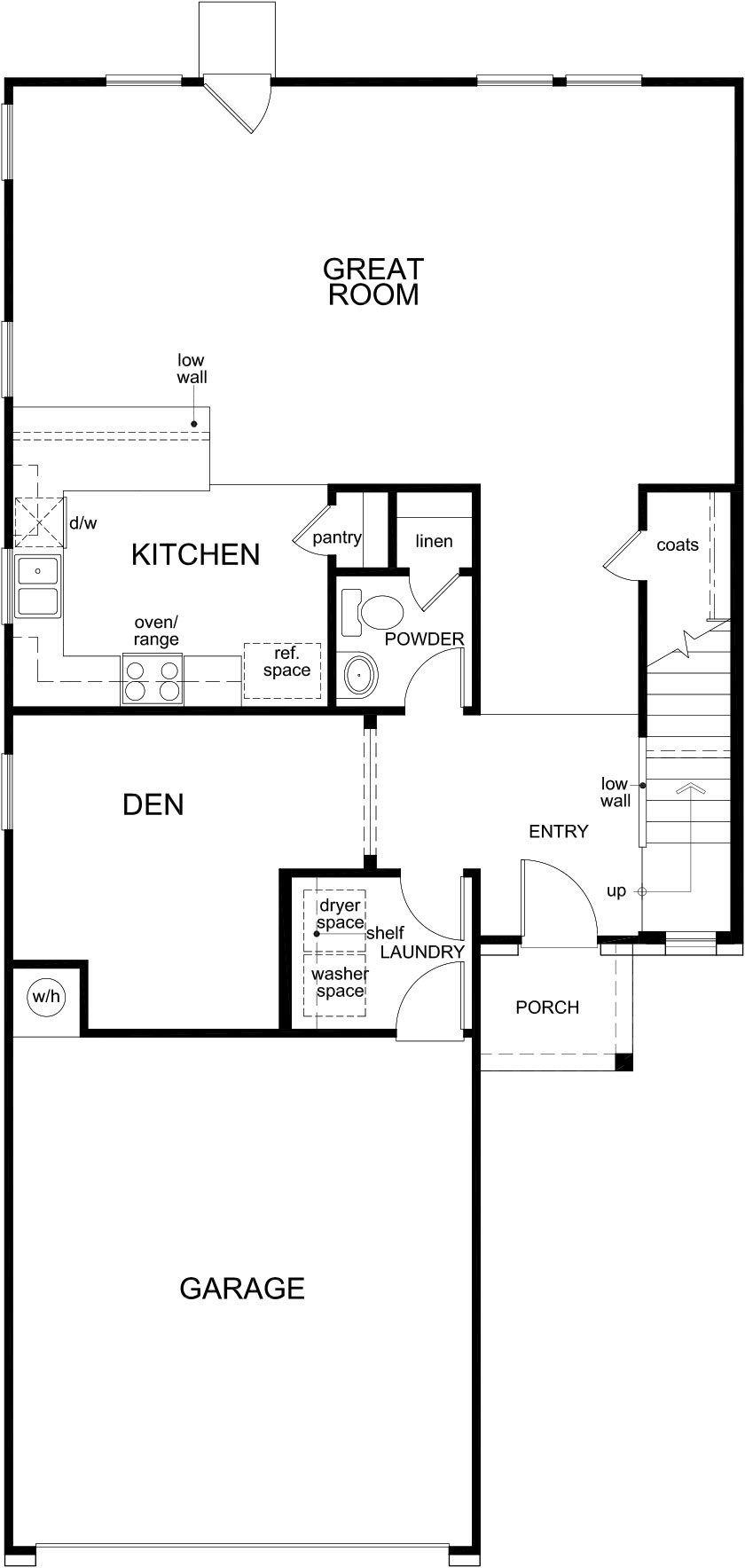 New Homes in Houston, TX - Plan 2239, First Floor