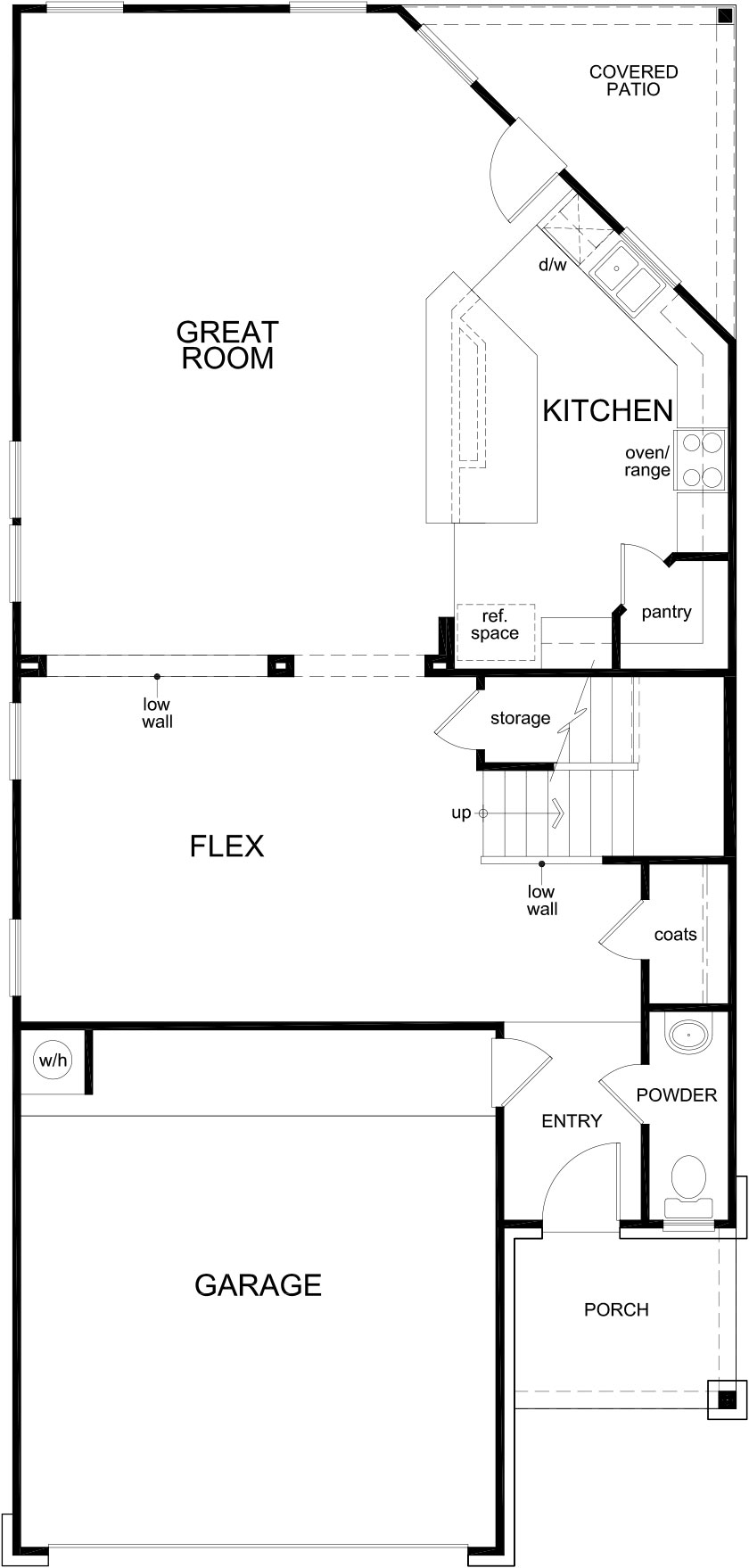 New Homes in Houston, TX - Plan 2354, First Floor